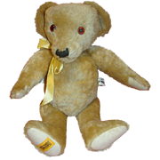 SALE Vintage Ltd Ed Signed Merry Thought Bear Made in England