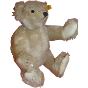 SALE 12 Inch Signed Vintage German Steiff White Bear #0167/32 1985
