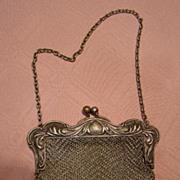 SALE Vintage German Silver Mesh Lady's Purse