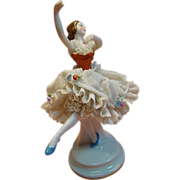 SALE Graceful German Dresden Porcelain Figurine of Ballet Dancer