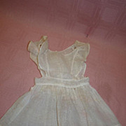 SALE Antique Ecru Pinafore for a 17-18 Inch Doll