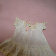 SALE Antique Tagged Original Amberg Vanta Baby Dress for 11 Inch Baby