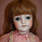 SALE 20-1/2 In. German Bisque Doll by Simon Halbig, Mold #550