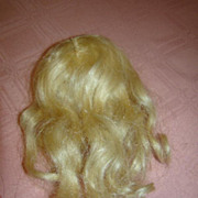 "SALE 9"" Cir. Side Part Blonde Wig Replacement for Antique Doll"