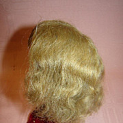 "SALE Antique Human Hair Doll Wig with Curls, Cardboard Pate, 7.5"" h.c."
