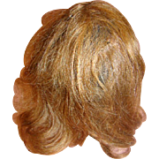 "11-12"" Original Human Hair Doll Wig, Light Brown"