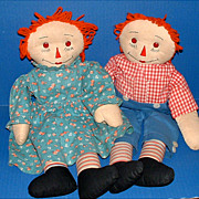 Adorable Raggedy Ann and Andy Dolls