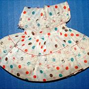 Nancy Ann Muffie Doll Polka Dotted Dress