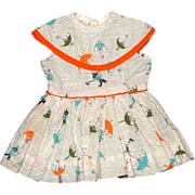 Terri Lee Doll Monkey and Umbrella Print Dress