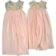 SOLD Two Madame Alexander Dolls Matching Nightgowns