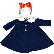 SOLD Madame Alexander Lissy Doll Blue Coat and Hat