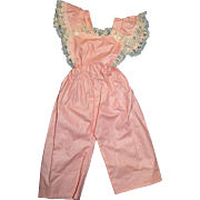 SOLD Doll Overalls and Matching Bonnet