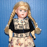 """Sweet 8 1/2"""" Bisque Doll in Original Clothes"""