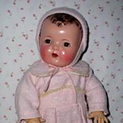"SOLD 20"" Effanbee Dy-Dee Lou / Dy-Dee Louise Snow Suit in Pink"