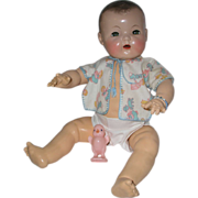 """SOLD Adorable 1930's Effanbee 20"""" Dy-Dee Louise Mold 1"""