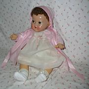 """SOLD 20"""" Effanbee Dy-Dee Louise Baby MOLD 2 -- w/ Flannel Coat Set"""