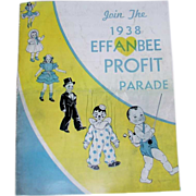 SOLD Incredible * RARE Retail STORE Ordering CATALOG for Effanbee DOLLS * Dated 1938
