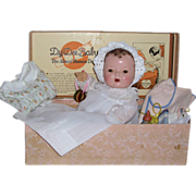 """SOLD 1930s Effanbee Dy-Dee DyDee Baby Doll - 15"""" with Original Box and Layette"""