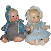 "SOLD 1930's Effanbee 10"" Patsy BABYkin Twins -- Brother / Sister to Adopt !"