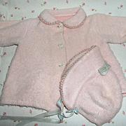"""SALE 15"""" Factory Effanbee Dy-Dee Jane Pink Eiderdown Coat / Bonnet"""