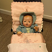 SALE PENDING SUPER RARE Original Dy-Dee Doll BUGGY -- Page 92 of Reference Book