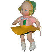 """SOLD Harriet Flanders 1937 Compo 12"""" LITTLE CHERUB Baby A/O -- Darling!!"""