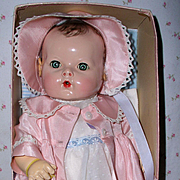"""RARE Brunette 1940's Effanbee 15"""" Dy-Dee -- Mold 2 A/O in DISPLAY Box"""