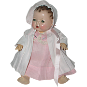 Effanbee Dy-Dee Jane Mold 1 FACTORY ORIGINAL Coat and Bonnet - Baby Pink