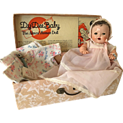 """RARE 1930s Dy-Dee WEE 9"""" w/Layette -- Adorable in her Original Box!!!"""