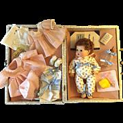 """1940's Effanbee 11"""" Dy-Dee Ellen Mint in Suitcase"""