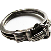Vintage Sterling Silver Gimmel Love Ring