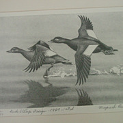 Maynard Reece 1969 First Edition Federal Duck Stamp & Print