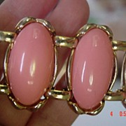 Super Wide Pink Lucite Thermoset Bracelet