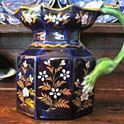 SALE Unique Staffordshire Ironstone  Pitcher, Fascinating