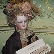 EXQUISITE Boxed Miniature Victorian Costume Paste Stick Pin!