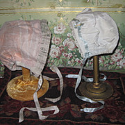 EXQUISITE Pair of Beautiful Fancy Doll Bonnets!