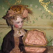 CHARMING Miniature Victorian Gilded Bronze Footed Doll Trinket Box