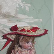 FANCY Vintage Hand Crocheted Miniature Doll Hat