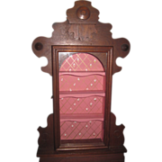 CHARMING Victorian Clock Case Display Cabinet for ALL BISQUE Doll Collection!