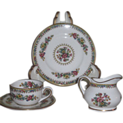"RARE Vintage Miniature English Coalport ""Ming Rose"" Bone China Tea Set for FASHION D"