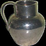 SUPERB Hallmarked Circa 1900 British Sterling Silver Miniature Water Pitcher for FASHION DOLLS