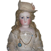 """SOLD SALE! Spectacular Early 17"""" Antique Fully Articulated Terrene Body French Fashion Do"""