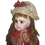 """SOLD HOLIDAY SALE!  Magnificent 19"""" Antique Size 8 Brown--Eyed French Tete Jumeau Bebe!"""