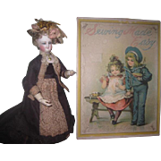 """SOLD RARE Antique """"Sewing Made Easy"""" Lithographed Children's Toy With Original Conte"""