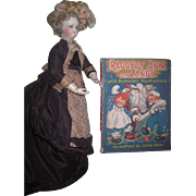 "CHARMING Circa 1944 ""Raggedy Ann and Andy"" Book with Animated Illustrations~AS FOUND"