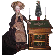SALE PENDING CHARMING Vintage Miniature Florentine Musical Secretary Desk with Holiday ...