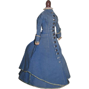 SALE! Magnificent Rare Antique 2 Piece French Fashion Doll Promenade Outfit!