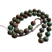 Native American Round Turquoise Beads Necklace