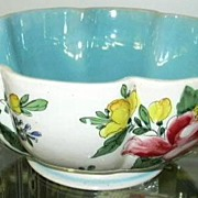 SOLD Italian Centerpiece Bowl Hand Painted  Pottery  Italy Signed
