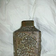 SALE PENDING Old Japanese Tea Caddy Cannister Oriental Metalwork Box